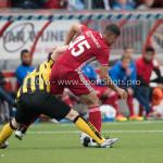 13-08-2016: Voetbal: Jong Almere City FC v Rijnsburgse Boys: Almere (L-R) Hidde Prijs (Rijnsburgse Boys), Emre Bal (Jong Almere City FC) 3de divisie zaterdag 2016 /2017