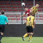 13-08-2016: Voetbal: Jong Almere City FC v Rijnsburgse Boys: Almere (L-R) Abdel Metalsi (Almere City FC), Martijn Tjon-A-Njoek (Rijnsburgse Boys) 3de divisie zaterdag 2016 /2017