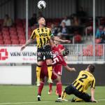 13-08-2016: Voetbal: Jong Almere City FC v Rijnsburgse Boys: Almere Donny Verdam (Rijnsburgse Boys), Emre Bal (Jong Almere City FC) (L-R)
