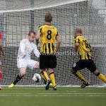 13-08-2016: Voetbal: Jong Almere City FC v Rijnsburgse Boys: Almere (L-R) Roy Pistoor (Almere City FC), Martijn Tjon-A-Njoek (Rijnsburgse Boys) 3de divisie zaterdag 2016 /2017