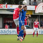 20-08-2016: Voetbal: Harkemase Boys v Jong Almere City FC: Harkema (L-R) Erich Jongeling (Harkemase Boys), Mitchell Faerber (Jong Almere City FC) 3de divisie zaterdag 2016 /2017