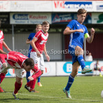 20-08-2016: Voetbal: Harkemase Boys v Jong Almere City FC: Harkema (L-R) Robin Huisman de Jong (Harkemase Boys), Maarten Davids (Almere City FC) 3de divisie zaterdag 2016 /2017