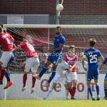 20-08-2016: Voetbal: Harkemase Boys v Jong Almere City FC: Harkema Mitchell Faerber (Jong Almere City FC) 3de divisie zaterdag 2016 /2017
