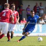 20-08-2016: Voetbal: Harkemase Boys v Jong Almere City FC: Harkema Daan Ibrahim (Jong Almere City FC) 3de divisie zaterdag 2016 /2017