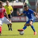 20-08-2016: Voetbal: Harkemase Boys v Jong Almere City FC: Harkema (L-R) Jordy van Wijk (Harkemase Boys), Daan Ibrahim (Jong Almere City FC) 3de divisie zaterdag 2016 /2017