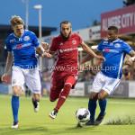 16-09-2016: Voetbal: Almere City FC v FC Den Bosch: Almere (L-R) Vykintas Slivka (FC Den Bosch), Soufyan Ahannach (Almere City FC), Jeremy Fernandes (FC Den Bosch) Jupiler League 2016 / 2017