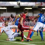 16-09-2016: Voetbal: Almere City FC v FC Den Bosch: Almere (L-R) Kees Heemskerk (FC Den Bosch), Kay Ramstijn (Almere City FC), Jeremy Fernandes (FC Den Bosch) Jupiler League 2016 / 2017