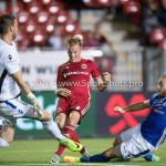 16-09-2016: Voetbal: Almere City FC v FC Den Bosch: Almere (L-R) Kees Heemskerk (FC Den Bosch), Jeffrey Rijsdijk (Almere City FC), Niek Vossebelt (FC Den Bosch) Jupiler League 2016 / 2017
