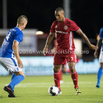 16-09-2016: Voetbal: Almere City FC v FC Den Bosch: Almere (L-R) Ben Santermans (FC Den Bosch), Sherjill MacDonald (Almere City FC) Jupiler League 2016 / 2017