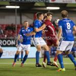 16-09-2016: Voetbal: Almere City FC v FC Den Bosch: Almere (L-R) Bart Bieman (FC Den Bosch), Sven Braken (Almere City FC) Jupiler League 2016 / 2017