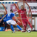 16-09-2016: Voetbal: Almere City FC v FC Den Bosch: Almere (L-R) Arda Hava (FC Den Bosch), Soufyan Ahannach (Almere City FC) Jupiler League 2016 / 2017