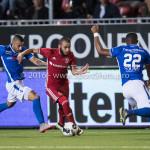 16-09-2016: Voetbal: Almere City FC v FC Den Bosch: Almere (L-R) Arda Hava (FC Den Bosch), Soufyan Ahannach (Almere City FC), Jeremy Fernandes (FC Den Bosch) Jupiler League 2016 / 2017