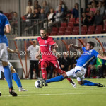 16-09-2016: Voetbal: Almere City FC v FC Den Bosch: Almere (L-R) Soufyan Ahannach (Almere City FC), Jeremy Fernandes (FC Den Bosch) Jupiler League 2016 / 2017