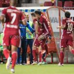 16-09-2016: Voetbal: Almere City FC v FC Den Bosch: Almere (L-R) Sven Braken (Almere City FC), Gaston Salasiwa (Almere City FC) Jupiler League 2016 / 2017