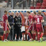 16-09-2016: Voetbal: Almere City FC v FC Den Bosch: Almere (L-R) Jack de Gier - Technisch manager/Hoofdtrainer (Almere City FC), Sven Braken (Almere City FC) Jupiler League 2016 / 2017