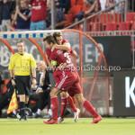 16-09-2016: Voetbal: Almere City FC v FC Den Bosch: Almere (L-R) Kay Ramstijn (Almere City FC), Sven Braken (Almere City FC) Jupiler League 2016 / 2017
