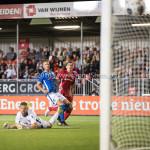 16-09-2016: Voetbal: Almere City FC v FC Den Bosch: Almere (L-R) Kees Heemskerk (FC Den Bosch), Ben Santermans (FC Den Bosch), Sven Braken (Almere City FC) 2 - 0 Jupiler League 2016 / 2017