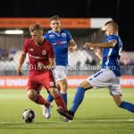 16-09-2016: Voetbal: Almere City FC v FC Den Bosch: Almere (L-R) Rick ten Voorde (Almere City FC), Ben Santermans (FC Den Bosch) Jupiler League 2016 / 2017