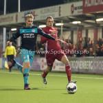 14-10-2016: Voetbal: Almere City FC v Jong PSV: Almere (L-R) Matthias Verreth (Jong PSV), Lars Nieuwpoort (Almere City FC) Jupiler League 2016 / 2017