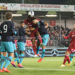 14-10-2016: Voetbal: Almere City FC v Jong PSV: Almere (L-R) Jurich Carolina (Jong PSV), Sherjill MacDonalds (Almere City FC), Bram van Vlerken (Jong PSV) Jupiler League 2016 / 2017