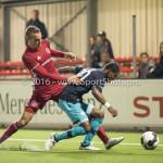 14-10-2016: Voetbal: Almere City FC v Jong PSV: Almere (L-R) Lars Nieuwpoort (Almere City FC), Kenneth Paal (Jong PSV) Jupiler League 2016 / 2017
