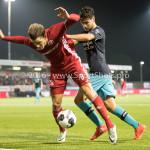 14-10-2016: Voetbal: Almere City FC v Jong PSV: Almere (L-R) Sven Braken (Almere City FC), Bram van Vlerken (Jong PSV) Jupiler League 2016 / 2017