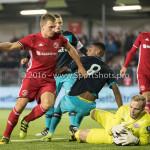 14-10-2016: Voetbal: Almere City FC v Jong PSV: Almere (L-R) Damon Mirani (Almere City FC), Pablo Rosario (Jong PSV), Hidde Jurjus (Jong PSV) Jupiler League 2016 / 2017