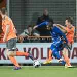 25-10-2016: Voetbal: FC Volendam v Almere City FC: Volendam (L-R) Soufyan Ahannach (Almere City FC), Erik Schouten (FC Volendam) KNVB Beker 2e ronde 2016 / 2017