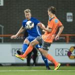 25-10-2016: Voetbal: FC Volendam v Almere City FC: Volendam (L-R) Rick ten Voorde (Almere City FC), Erik Schouten (FC Volendam) KNVB Beker 2e ronde 2016 / 2017
