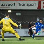 25-10-2016: Voetbal: FC Volendam v Almere City FC: Volendam (L-R) Hobie Verhulst (FC Volendam). Yener Arica (Almere City FC) KNVB Beker 2e ronde 2016 / 2017