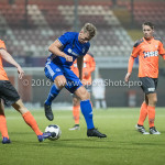 25-10-2016: Voetbal: FC Volendam v Almere City FC: Volendam (L-R) Paul Kok (FC Volendam), Rick ten Voorde (Almere City FC) KNVB Beker 2e ronde 2016 / 2017