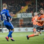 25-10-2016: Voetbal: FC Volendam v Almere City FC: Volendam (L-R) Silvester van de Water (Almere City FC), Paul Kok (FC Volendam) KNVB Beker 2e ronde 2016 / 2017