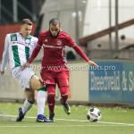 05-01-2017: Voetbal:Almere City FC v FC Groningen: Almere (L-R) Samir Memisevic (FC Groningen), Soufyan Ahannach (Almere City FC) Oefenwedstrijd 2016 /2017