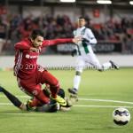 05-01-2017: Voetbal:Almere City FC v FC Groningen: Almere (L-R) Stefan van der Lei (FC Groningen), Yener Arica (Almere City FC) Oefenwedstrijd 2016 /2017