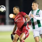 05-01-2017: Voetbal:Almere City FC v FC Groningen: Almere (L-R) Sherjill MacDonald (Almere City FC), Samir Memisevic (FC Groningen) Oefenwedstrijd 2016 /2017