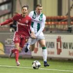 05-01-2017: Voetbal:Almere City FC v FC Groningen: Almere (L-R) Gaston Salasiwa (Almere City FC), Samir Memisevic (FC Groningen) Oefenwedstrijd 2016 /2017