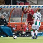05-01-2017: Voetbal:Almere City FC v FC Groningen: Almere (L-R) Jeffrey Rijsdijk (Almere City FC), Yoell van Nieff (FC Groningen) Oefenwedstrijd 2016 /2017