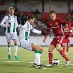 05-01-2017: Voetbal:Almere City FC v FC Groningen: Almere (L-R) Etiënne Reijnen (FC Groningen), Lars Nieuwpoort (Almere City FC) Oefenwedstrijd 2016 /2017