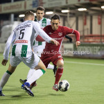 05-01-2017: Voetbal:Almere City FC v FC Groningen: Almere (L-R) Samir Memisevic (FC Groningen), Gaston Salasiwa (Almere City FC) Oefenwedstrijd 2016 /2017
