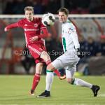 05-01-2017: Voetbal:Almere City FC v FC Groningen: Almere (L-R) Jasper Waalkens (Almere City FC), Kasper Larsen (FC Groningen) Oefenwedstrijd 2016 /2017