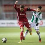 05-01-2017: Voetbal:Almere City FC v FC Groningen: Almere (L-R) Javier Vet (Almere City FC), Tom Hiariej (FC Groningen) Oefenwedstrijd 2016 /2017