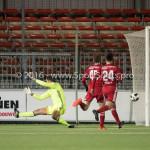 05-01-2017: Voetbal:Almere City FC v FC Groningen: Almere (L-R) Addin Hrustic (FC Groningen), Chiel Kramer (Almere City FC) Oefenwedstrijd 2016 /2017