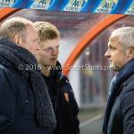 13-01-2017: Voetbal: Almere City FC v FC Volendam: Almere (L-R) Robert Molenaar / Hoofdtrainer (FC Volendam), Jack de Gier - Technisch manager/Hoofdtrainer (Almere City FC) Jupiler League 2016 / 2017