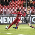 13-01-2017: Voetbal: Almere City FC v FC Volendam: Almere (L-R) Yener Arica (Almere City FC), Paul Kok (FC Volendam) Jupiler League 2016 / 2017