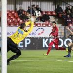 13-01-2017: Voetbal: Almere City FC v FC Volendam: Almere (L-R) Hobie Verhulst (FC Volendam), Yener Arica (Almere City FC), Paul Kok (FC Volendam) Jupiler League 2016 / 2017