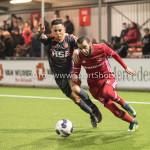 13-01-2017: Voetbal: Almere City FC v FC Volendam: Almere (L-R) Mohamed Betti (FC Volendam), Soufyan Ahannach (Almere City FC) Jupiler League 2016 / 2017
