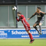 13-01-2017: Voetbal: Almere City FC v FC Volendam: Almere (L-R) Paul Quasten (Almere City FC), Mohamed Betti (FC Volendam) Jupiler League 2016 / 2017
