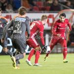 13-01-2017: Voetbal: Almere City FC v FC Volendam: Almere (L-R) Jeffrey Rijsdijk (Almere City FC), Yener Arica (Almere City FC) Jupiler League 2016 / 2017
