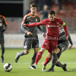 13-01-2017: Voetbal: Almere City FC v FC Volendam: Almere (L-R) Tom Overtoom (Almere City FC), Kevin Visser (FC Volendam) Jupiler League 2016 / 2017