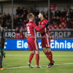 13-01-2017: Voetbal: Almere City FC v FC Volendam: Almere (L-R) Jeffrey Rijsdijk (Almere City FC), Paul Quasten (Almere City FC) Jupiler League 2016 / 2017